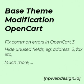 Base Theme Modification OpenCart