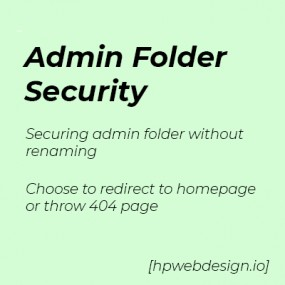 Admin Folder Security OpenCart