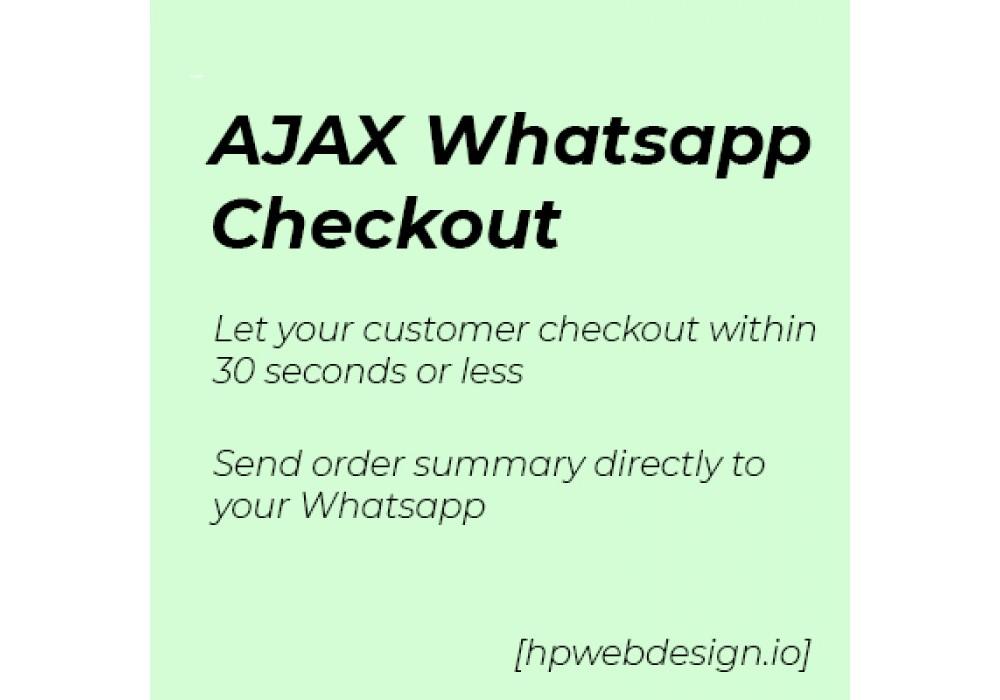 Ajax Whatsapp Checkout OpenCart