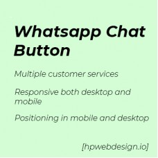 Whatsapp Chat Button OpenCart