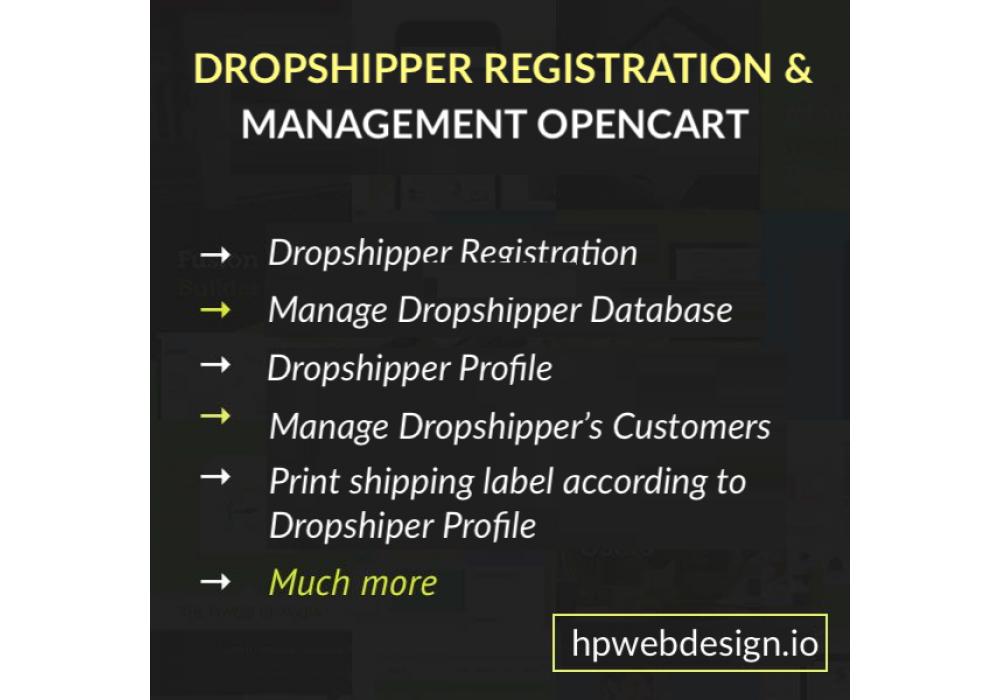 Dropshipper Registration and Management OpenCart