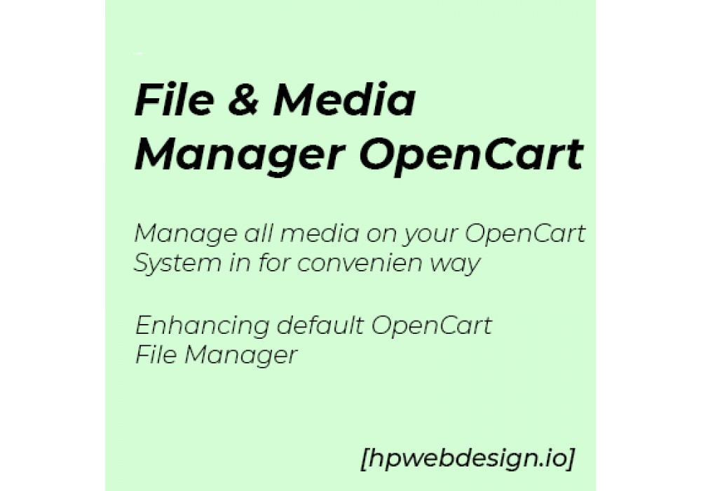 File Media Manager OpenCart