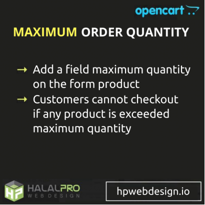 Maximum Order Quantity OpenCart