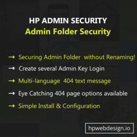 Admin Folder Security OpenCart