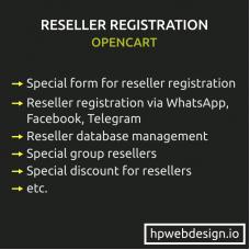 Reseller Registration & Management OpenCart