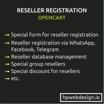 Reseller Registration & Management OpenCart